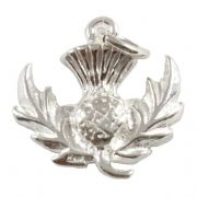 Scottish Thistle Sterling Silver Charm - Scotland